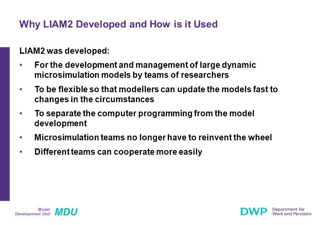 MDU Development Unit Model Structure of a Model: Genesis (1) Genesis Model Engine