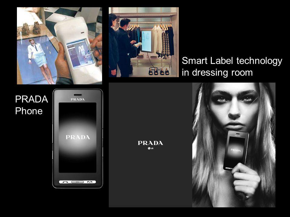 Smart Label technology in dressing room PRADA Phone