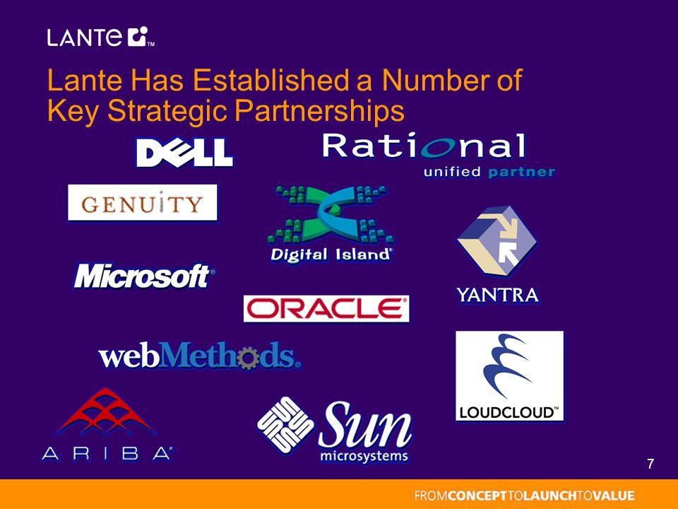 7 Lante Has Established a Number of Key Strategic Partnerships