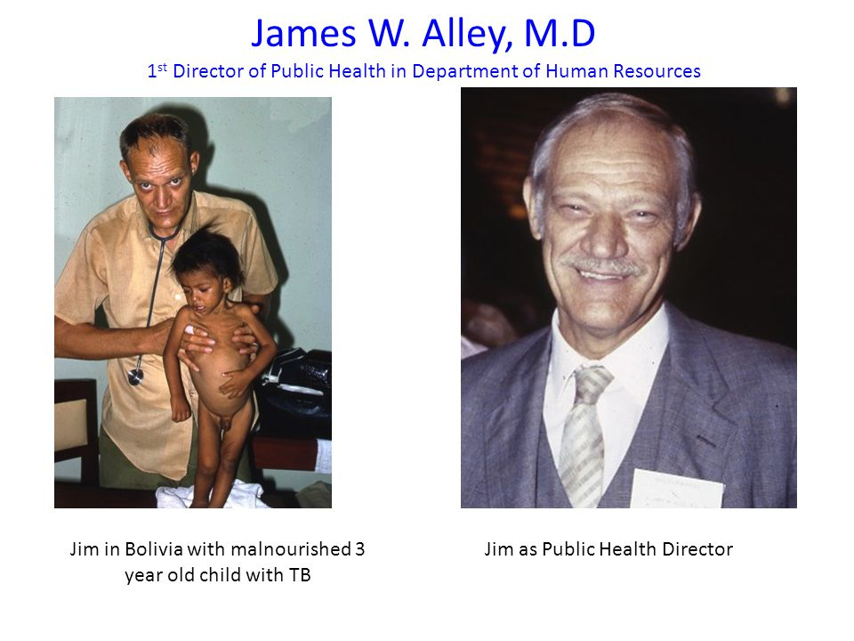Jim in Bolivia with malnourished 3 year old child with TB James W.
