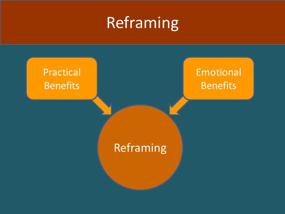Practical Benefits Emotional Benefits Reframing