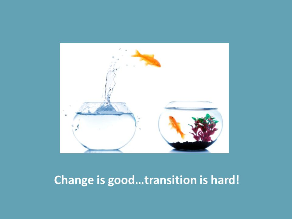 Change is good…transition is hard!