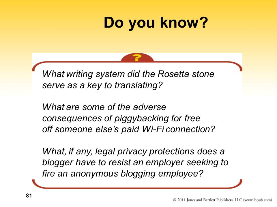 81 Do you know. What writing system did the Rosetta stone serve as a key to translating.