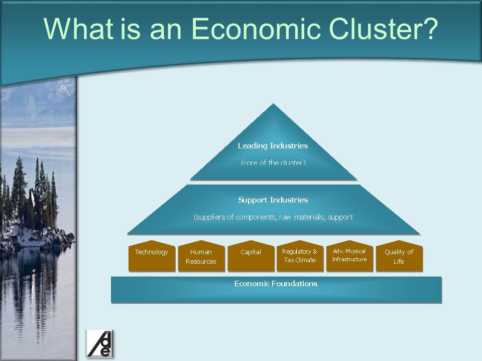 Click to edit Master title style What is an Economic Cluster? We are here