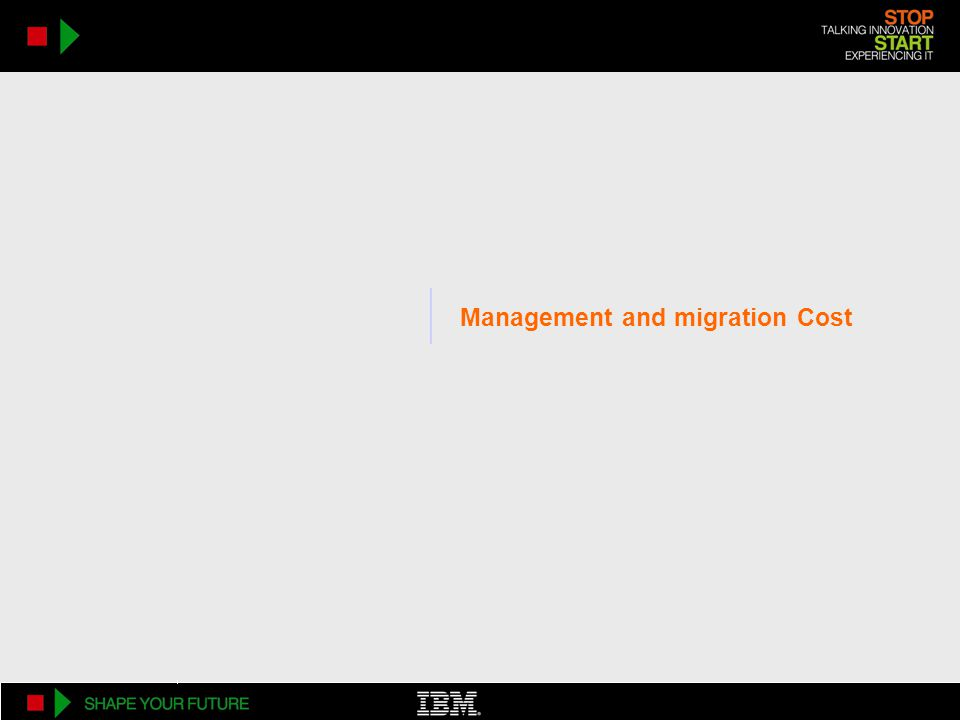 XIV TCO AdvantageManagement and migration Cost