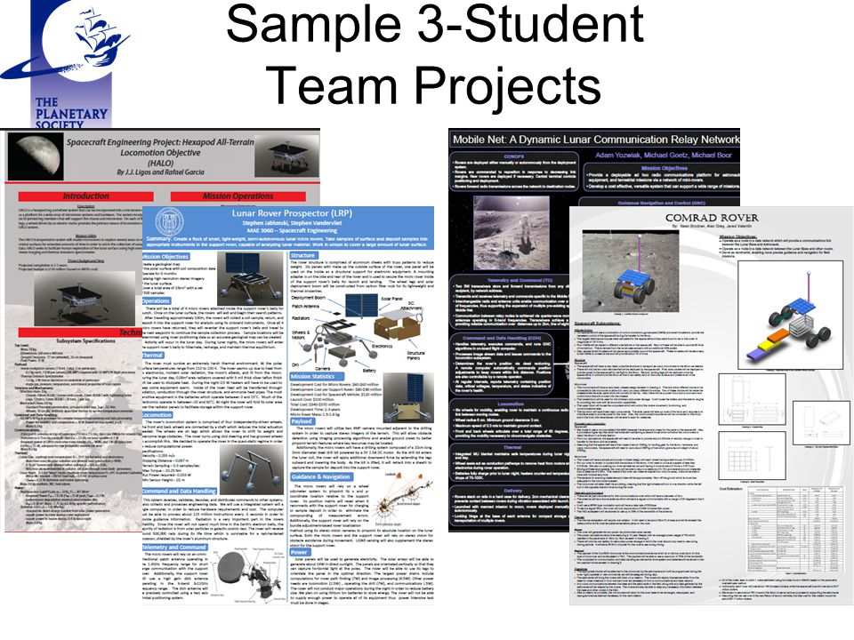 Sample 3-Student Team Projects