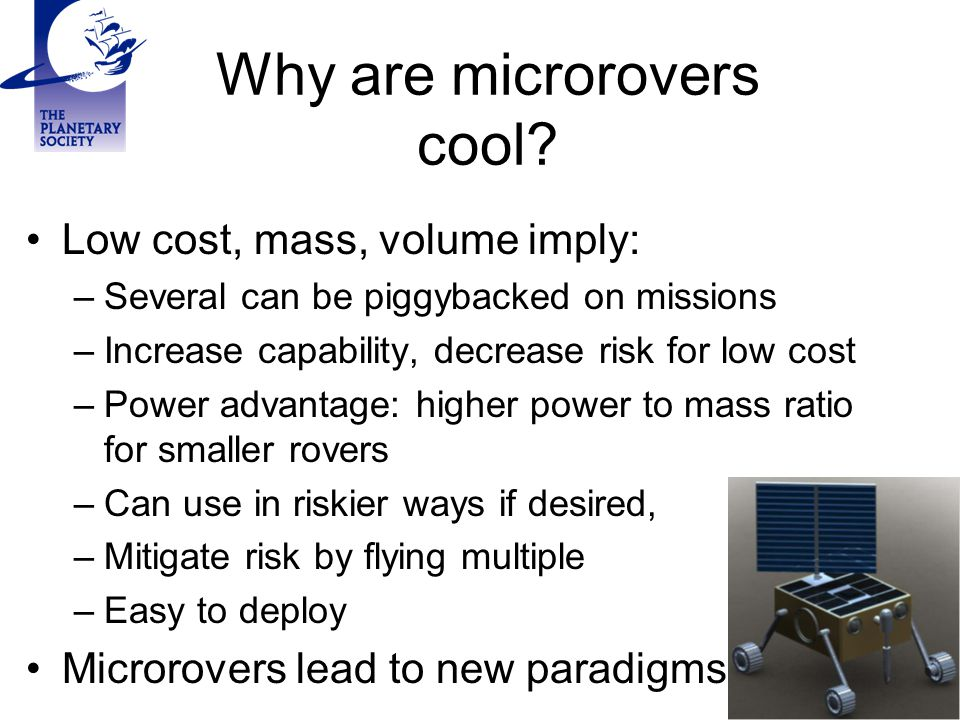 Why are microrovers cool.