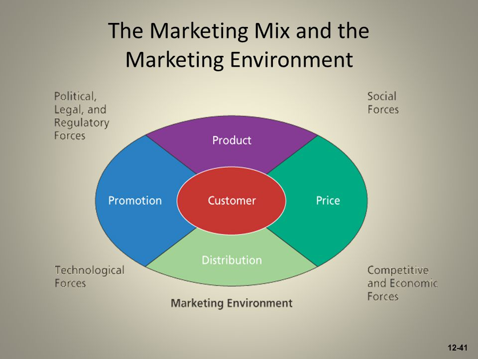 12-41 The Marketing Mix and the Marketing Environment