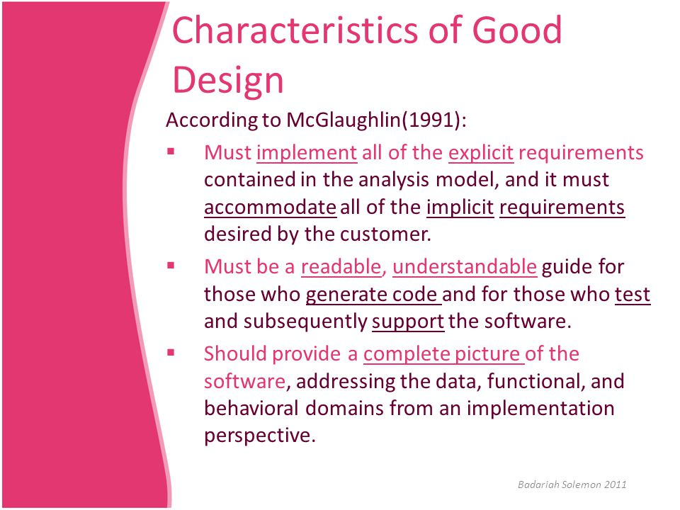 Design Specification  IEEE Standard for Information Technology - Systems Design - Software Design Descriptions (IEEE 1016-2009) an improved version of the 1998 version.
