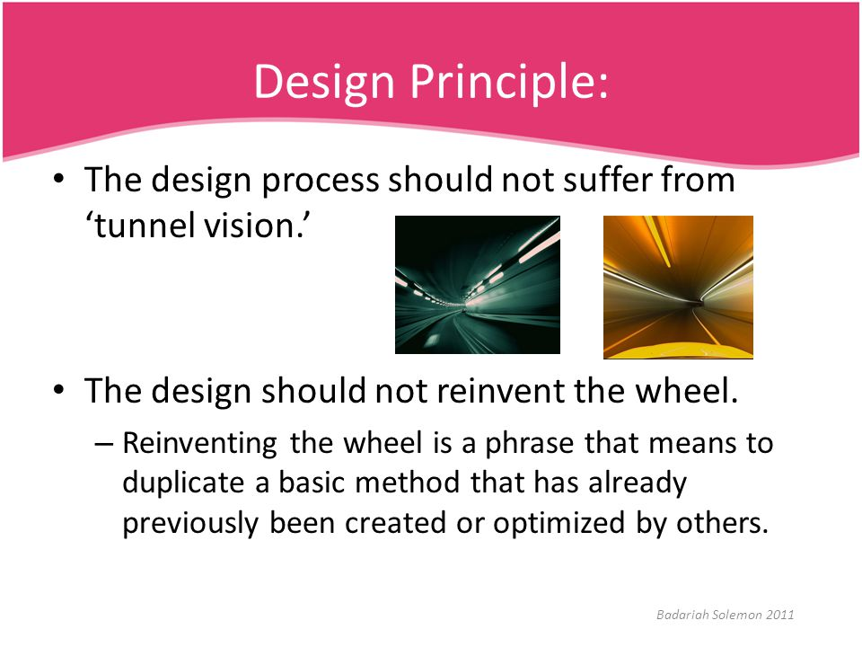Summary This module has: – Introduced set of design principles, concepts, and practices.