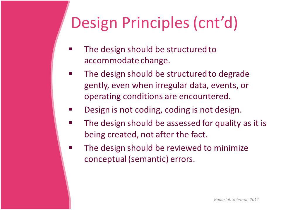 Generic Task Set for Design  Refer to the Task Set in page 222. Badariah Solemon 2011