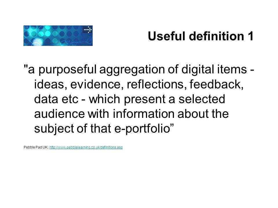 Useful definition 1