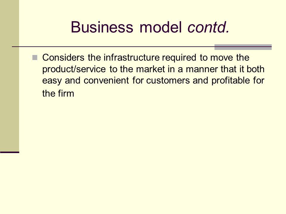 Business model contd.