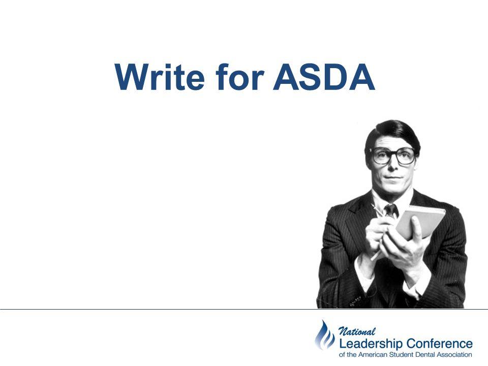 Write for ASDA
