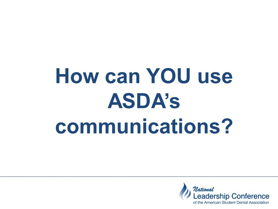 How can YOU use ASDA's communications?