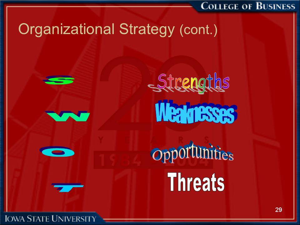 29 Organizational Strategy (cont.)