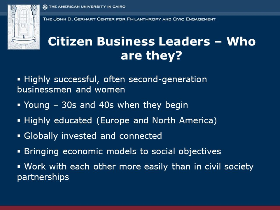 Citizen Business Leaders – Who are they.