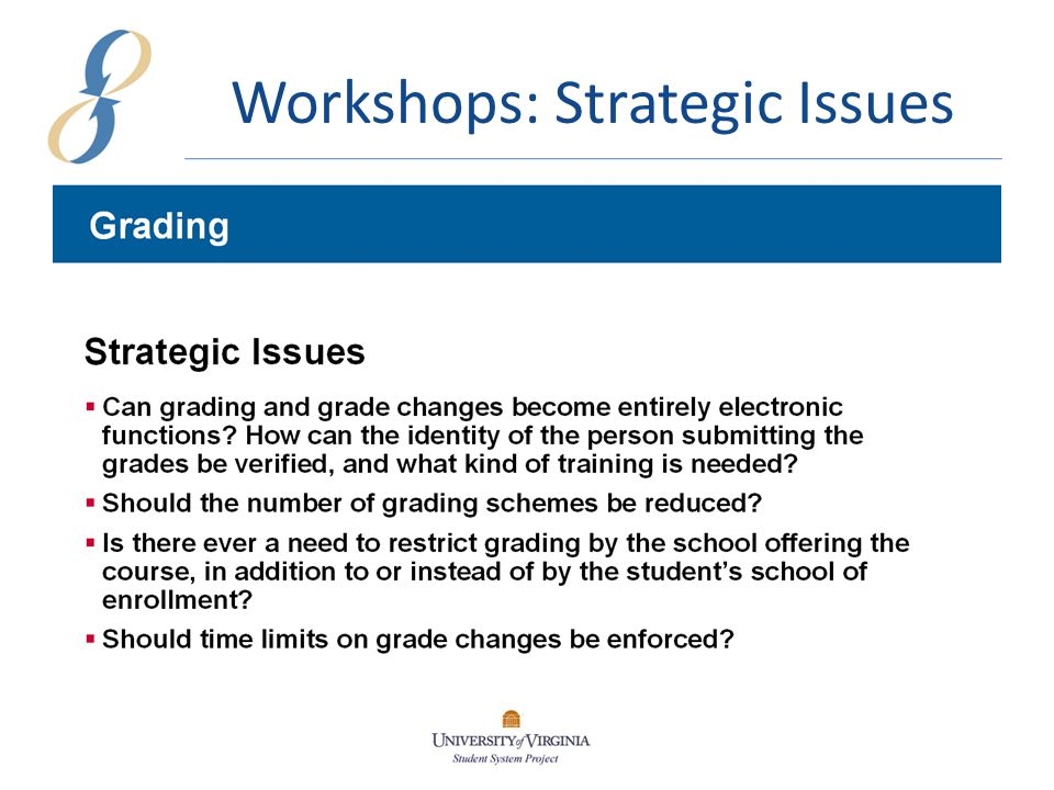 Workshops: Academic Issues