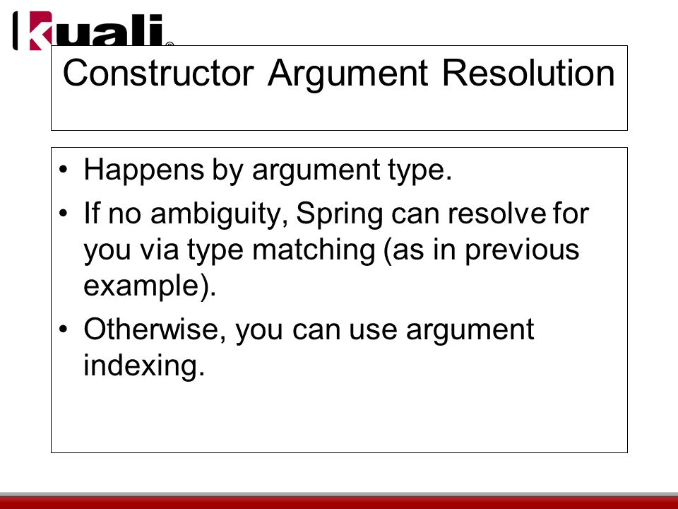 Constructor Argument Resolution Happens by argument type.