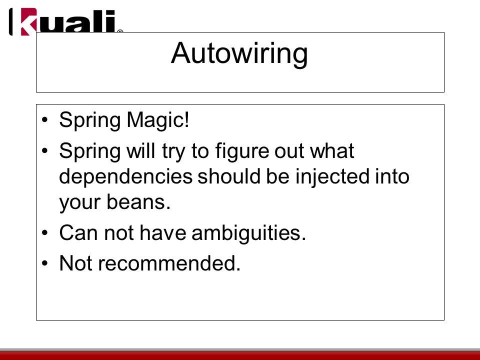 Autowiring Spring Magic.