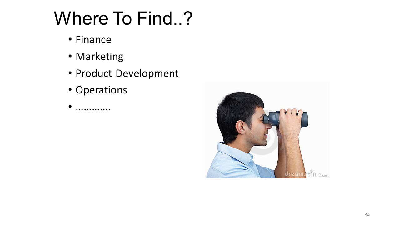 Where To Find.. Finance Marketing Product Development Operations …………. 34