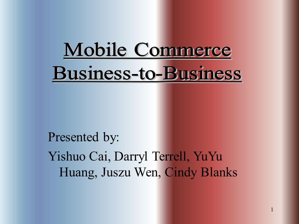 1 Presented by: Yishuo Cai, Darryl Terrell, YuYu Huang, Juszu Wen, Cindy Blanks