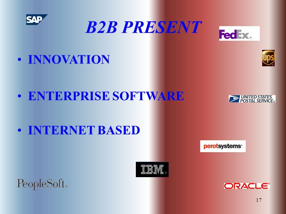 17 B2B PRESENT INNOVATION ENTERPRISE SOFTWARE INTERNET BASED