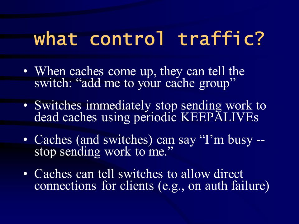what control traffic.