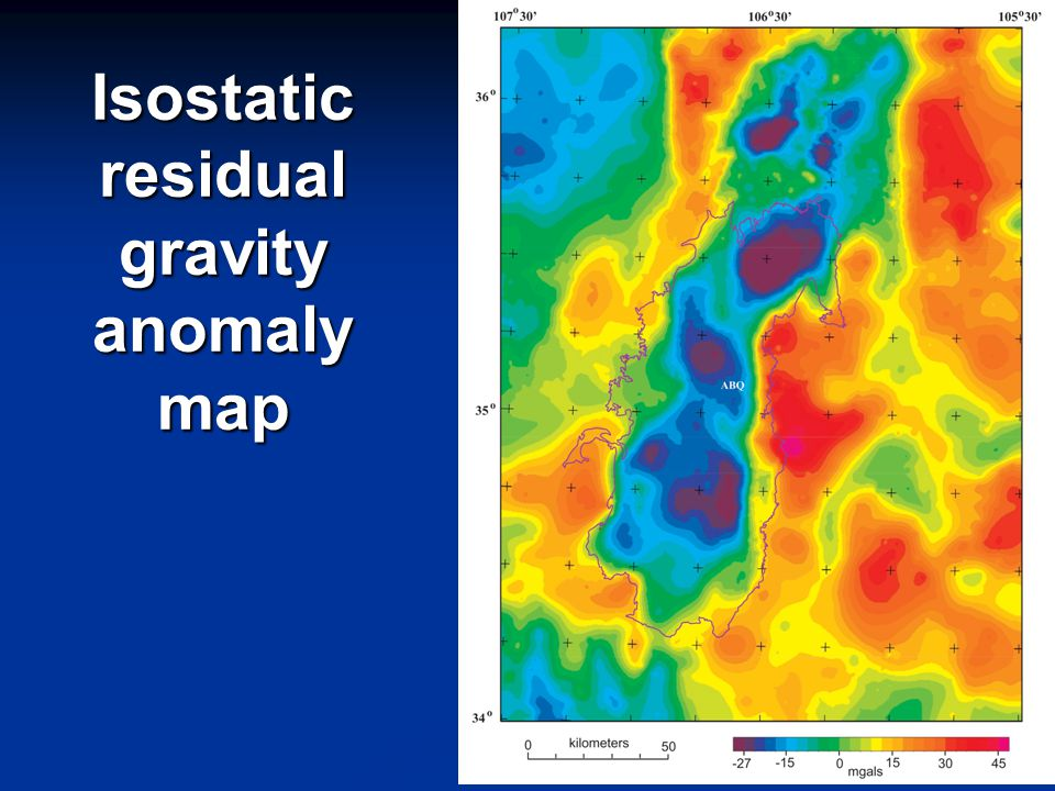 Isostatic residual gravity anomaly map
