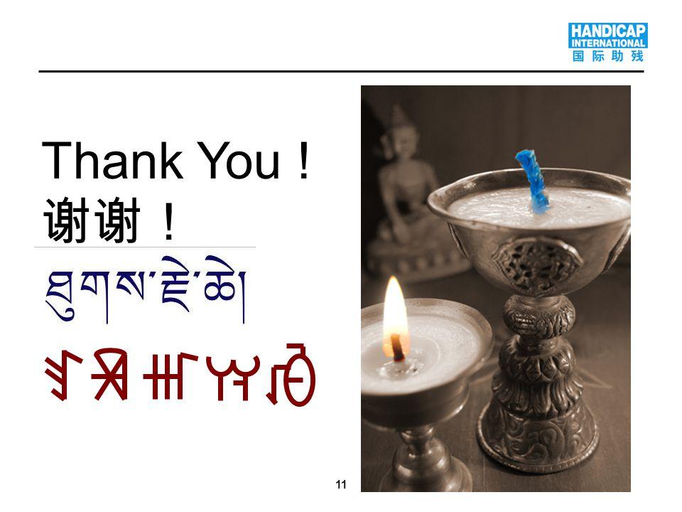11 Thank You ! 谢谢!