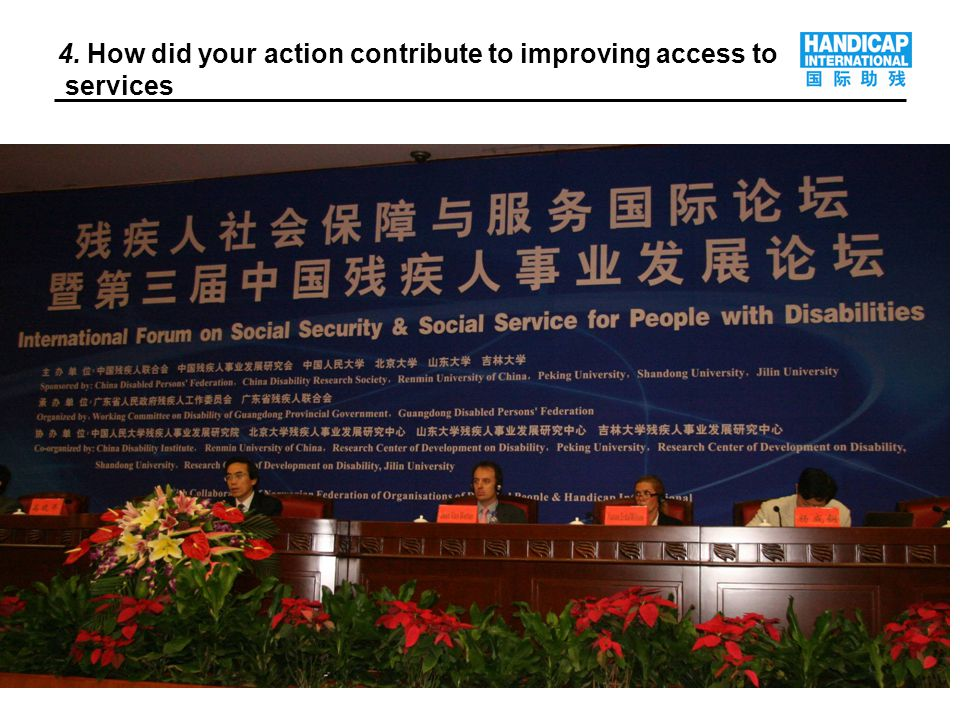 8 4. How did your action contribute to improving access to services