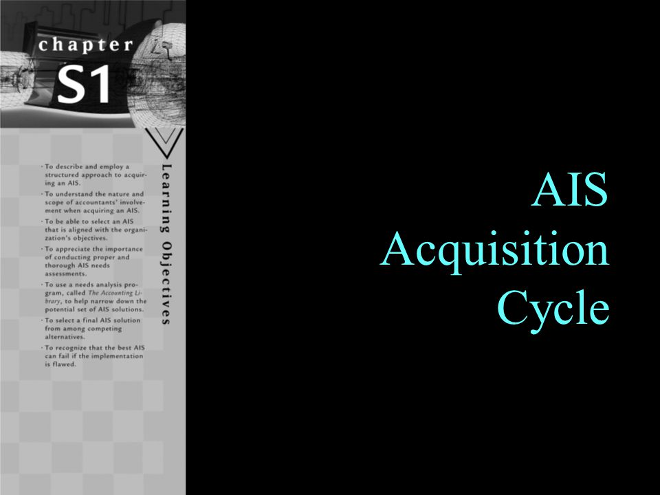 Learning Objectives To describe and employ a structured approach to acquiring an AIS.