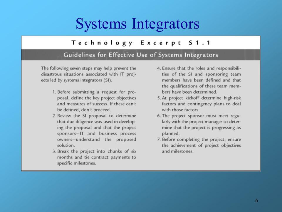 6 Systems Integrators