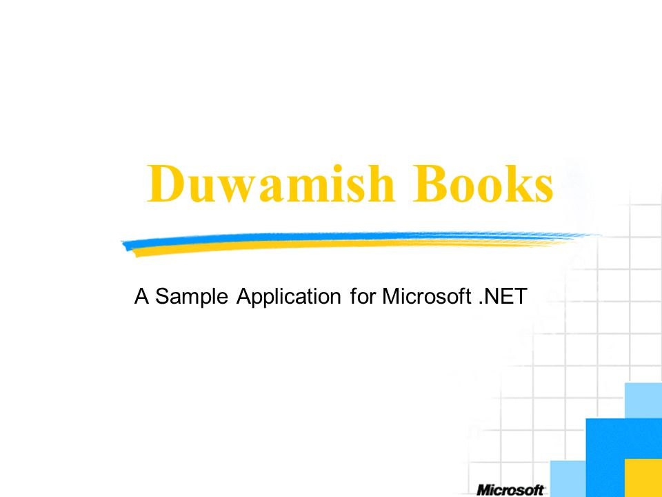 Duwamish Books A Sample Application for Microsoft.NET