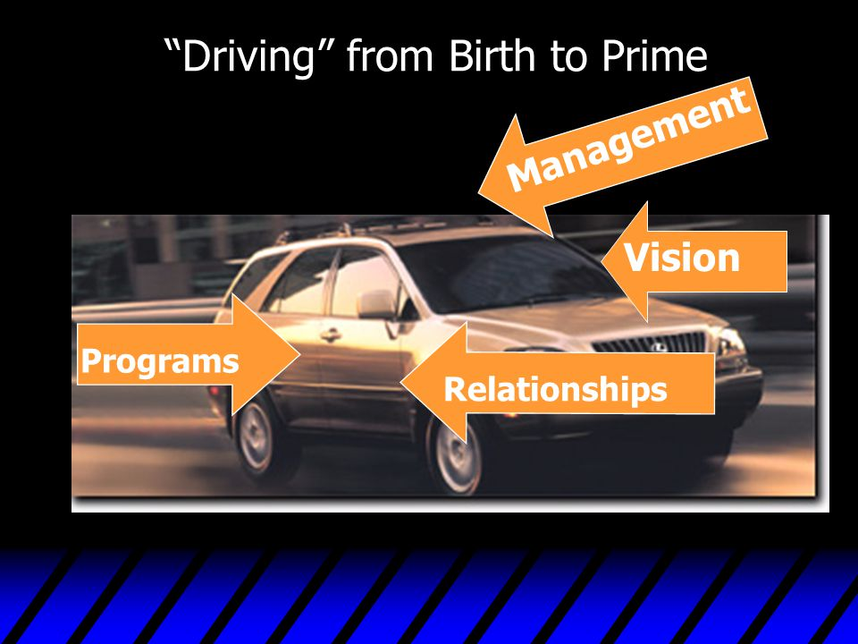 """""""Driving"""" from Birth to Prime Management Vision Programs Relationships"""