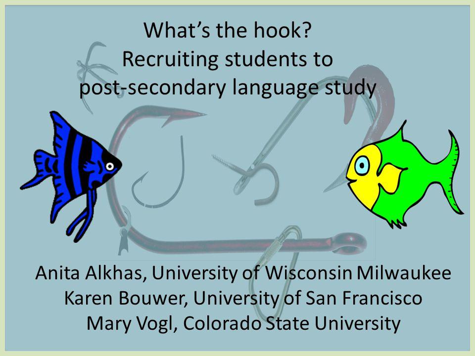Where do we focus our efforts? IV.Recruitment & Retention: Administrative/Programmatic Initiatives