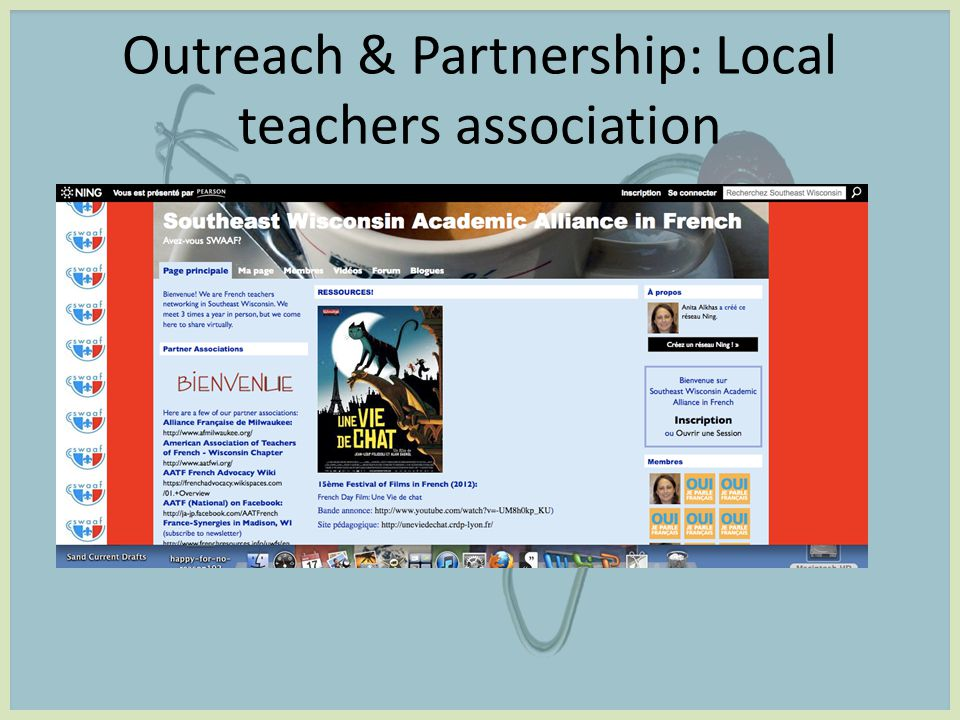 Outreach & Partnership: Local teachers association