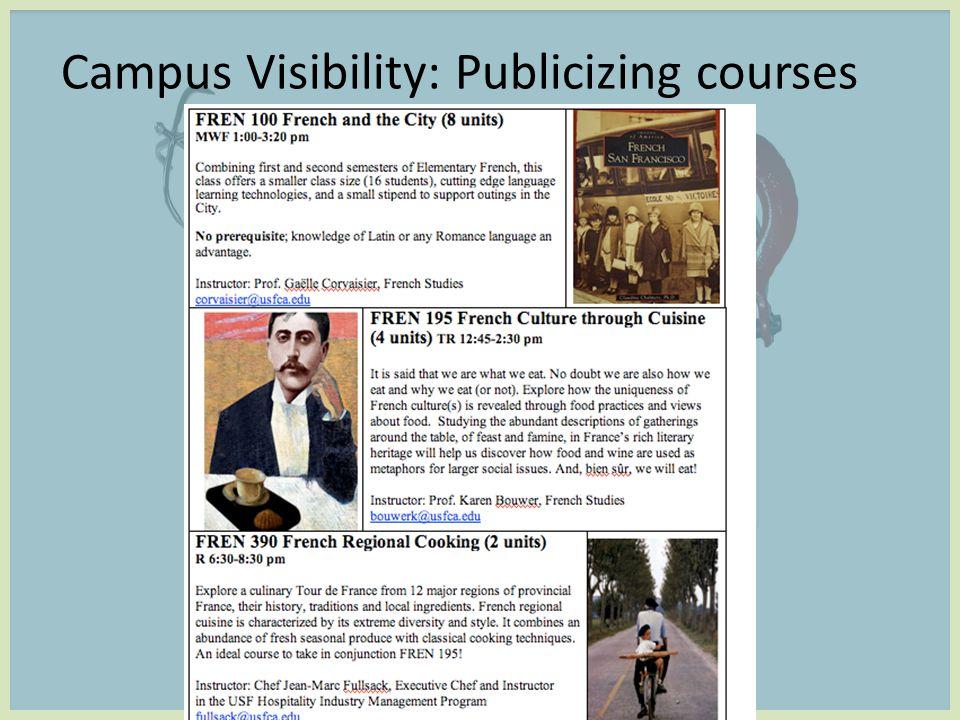 Campus Visibility: Publicizing courses