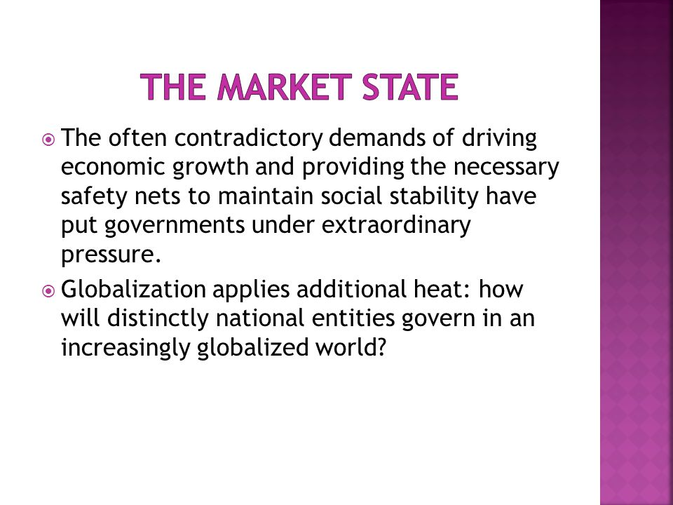  The often contradictory demands of driving economic growth and providing the necessary safety nets to maintain social stability have put governments under extraordinary pressure.