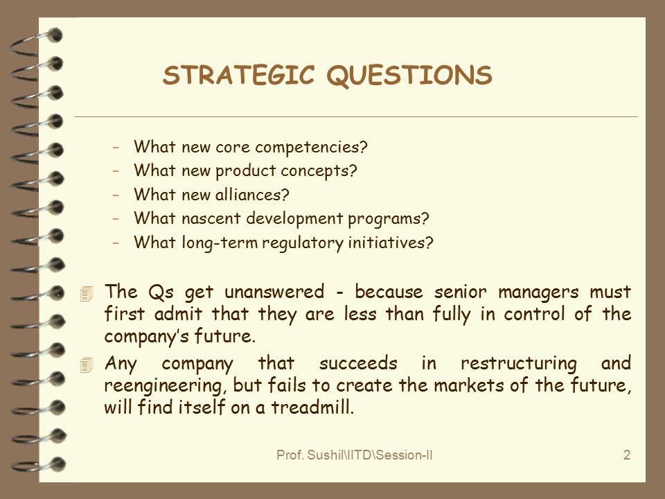 Prof.Sushil\IITD\Session-II2 STRATEGIC QUESTIONS –What new core competencies.