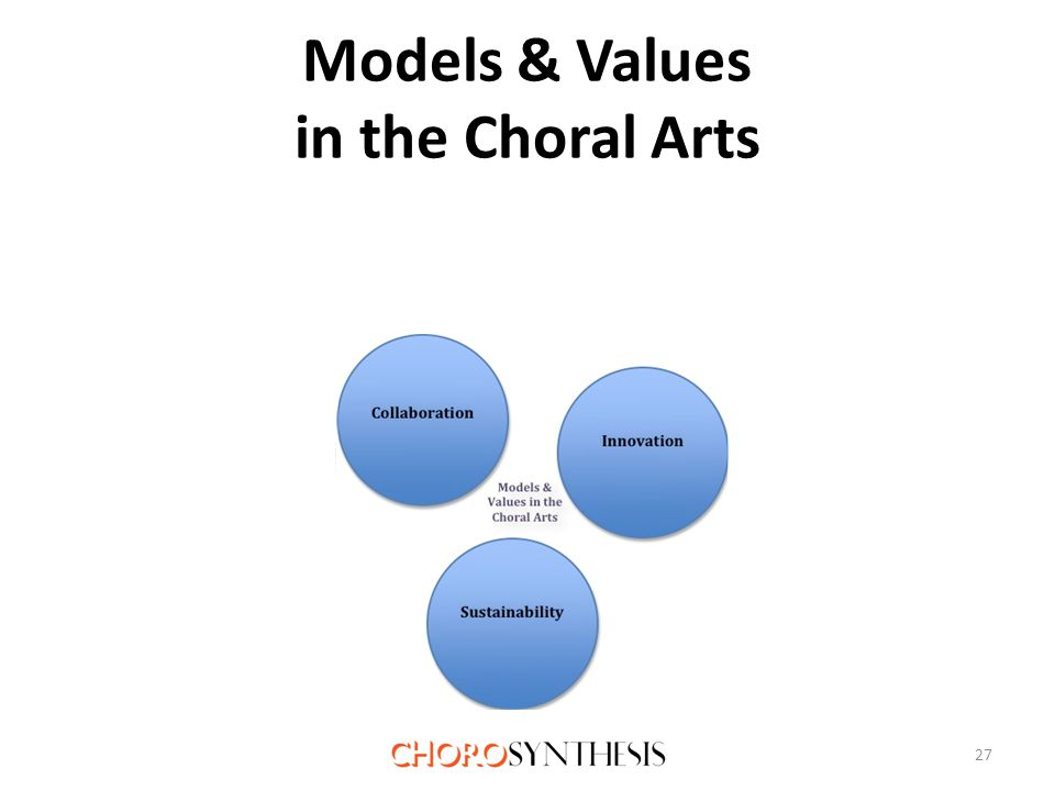 Models & Values in the Choral Arts 27