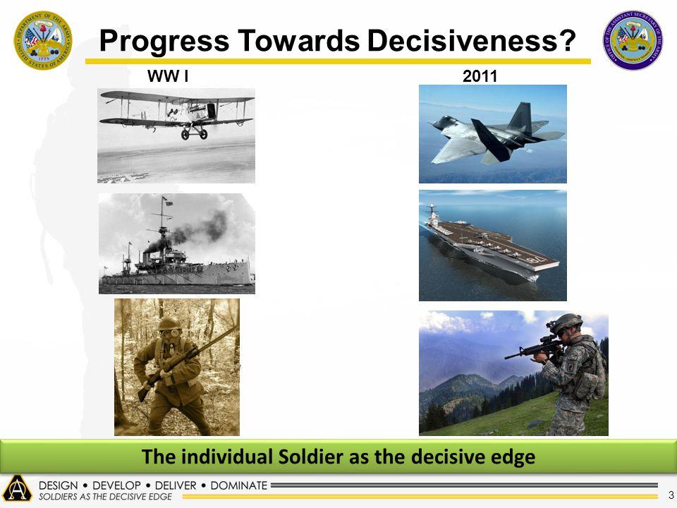 3 Progress Towards Decisiveness WW I2011 The individual Soldier as the decisive edge