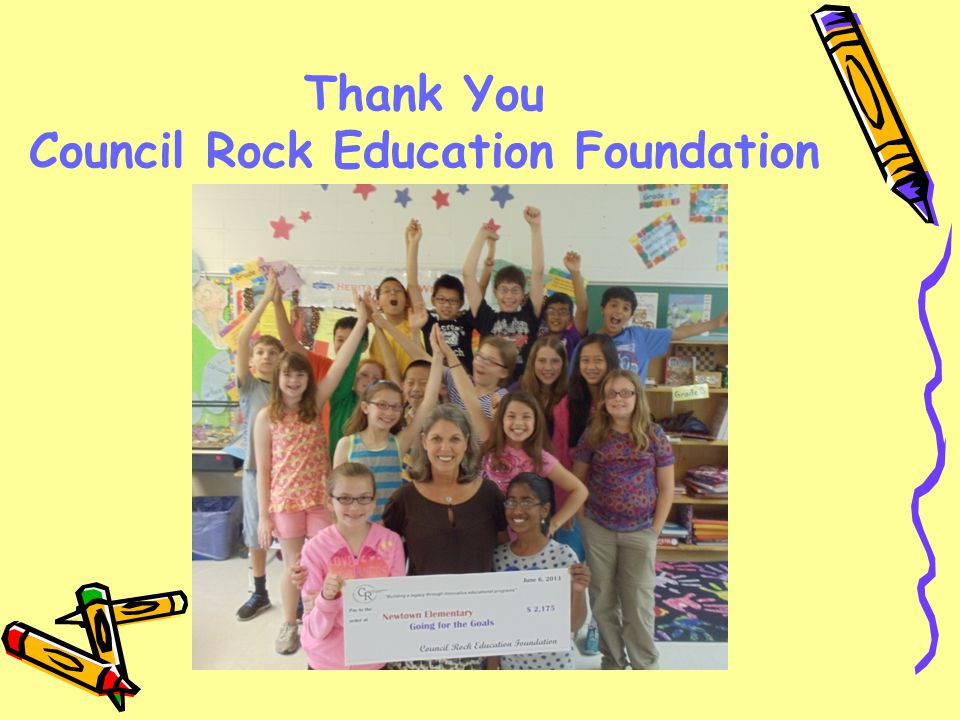 Thank You Council Rock Education Foundation
