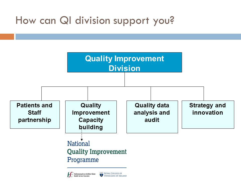 How can QI division support you.