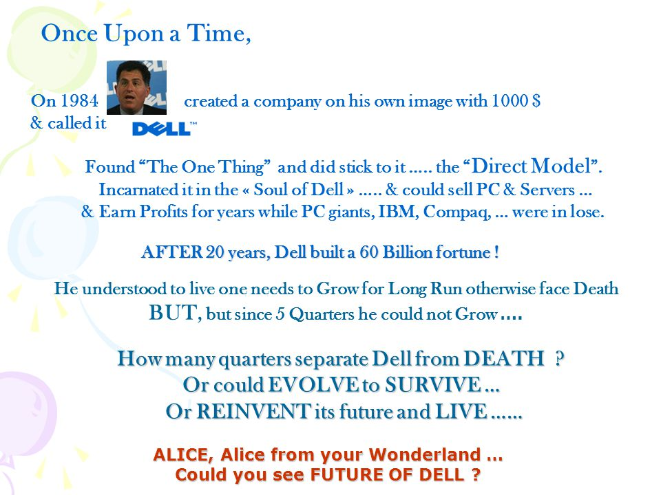 """On 1984 created a company on his own image with 1000 $ & called it AFTER 20 years, Dell built a 60 Billion fortune ! Found """"The One Thing"""" and did sti"""