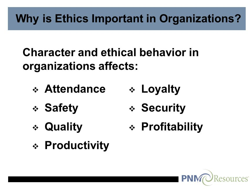 Why Should Organizations Behave Ethically.