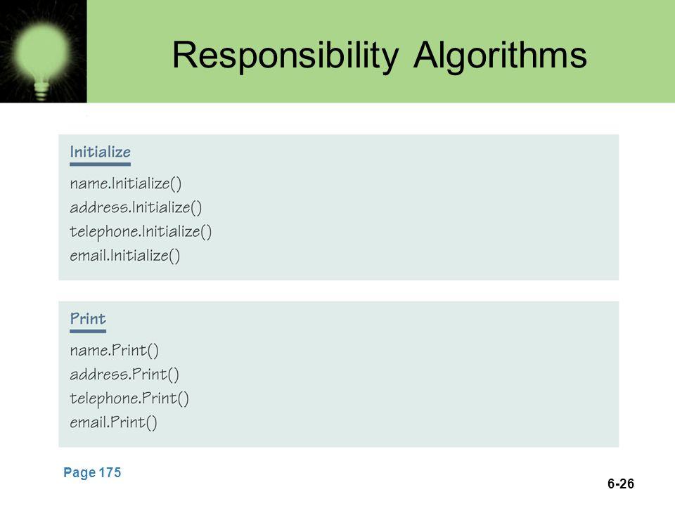 6-26 Responsibility Algorithms Page 175