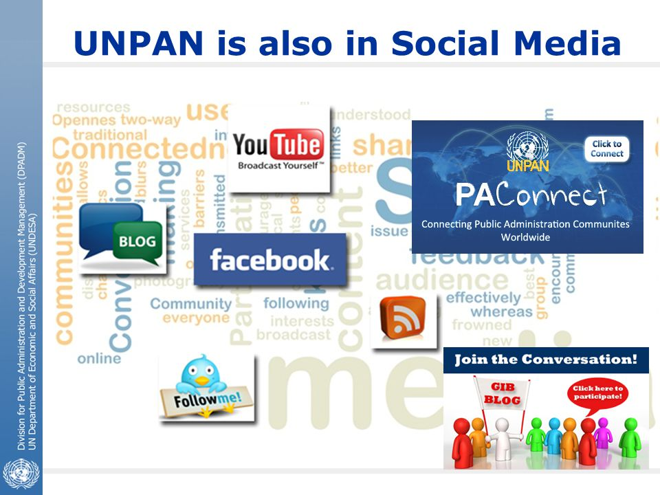 UNPAN is also in Social Media