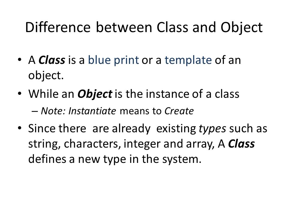 Memory Heap Object and Memory AccountClass accountObject1 accountObject2 Instantiate
