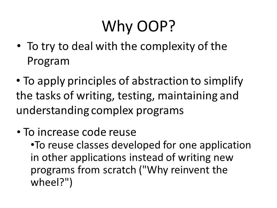 Why OOP.